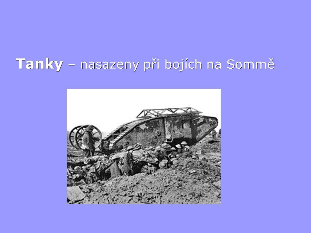 Tanky – nasazeny při bojích na Sommě