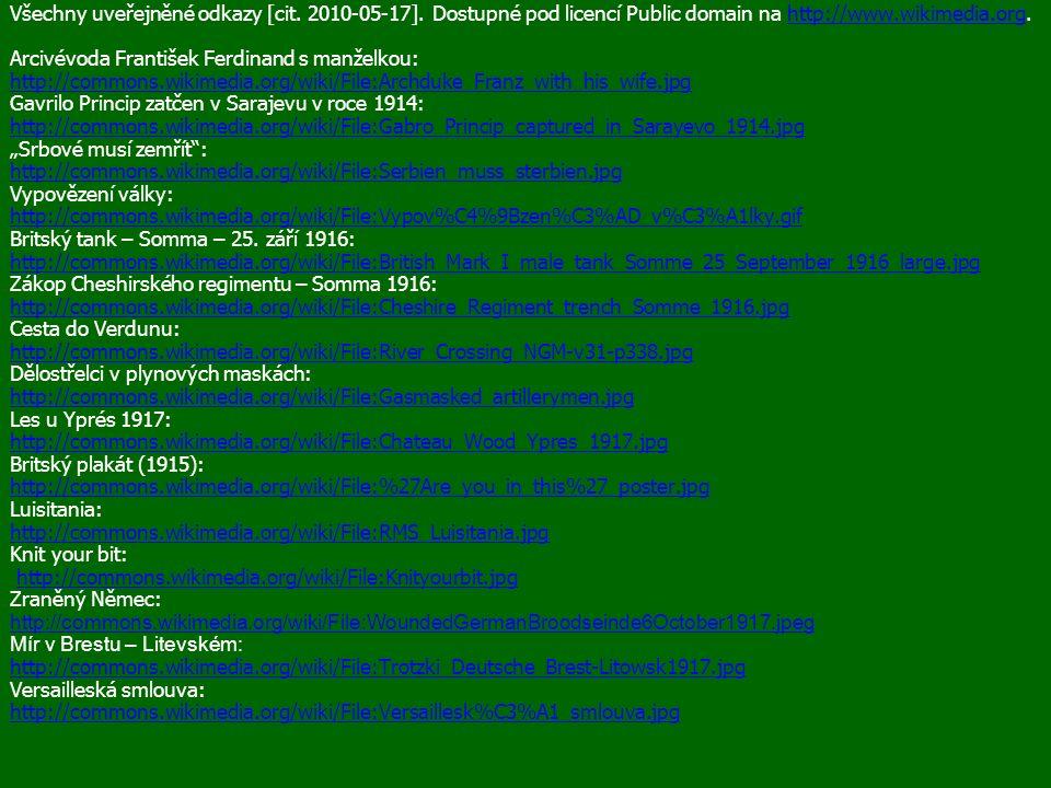 Všechny uveřejněné odkazy [cit. 2010-05-17].