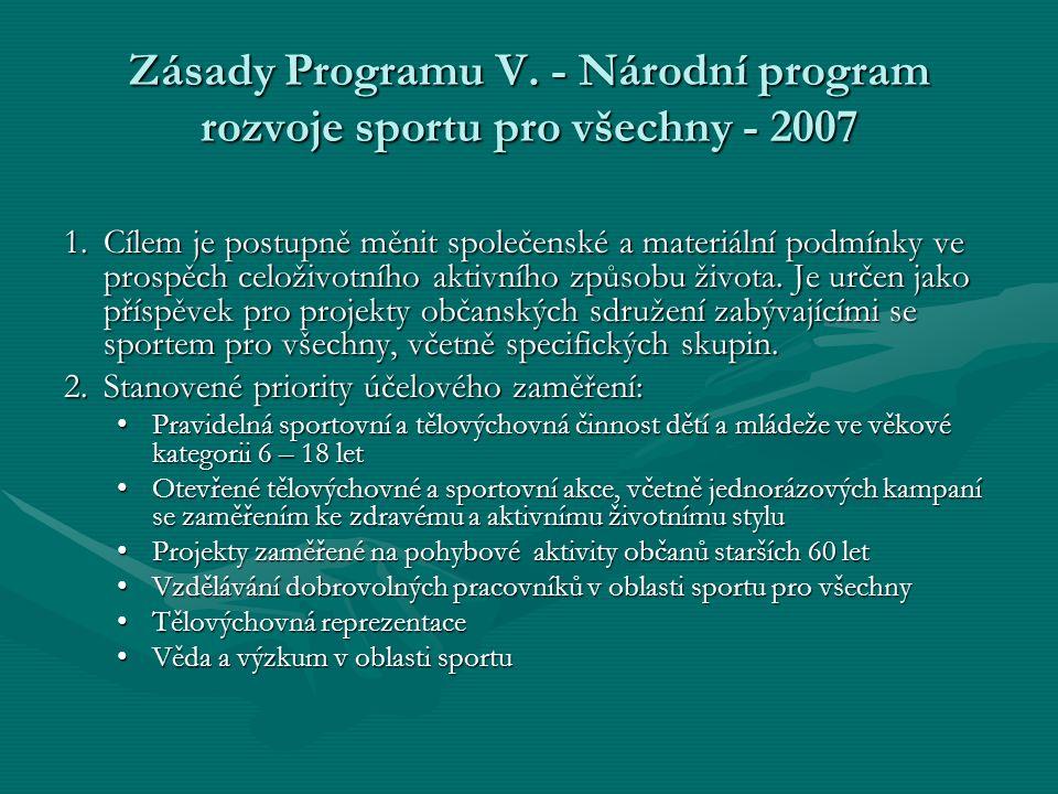Zásady Programu V.