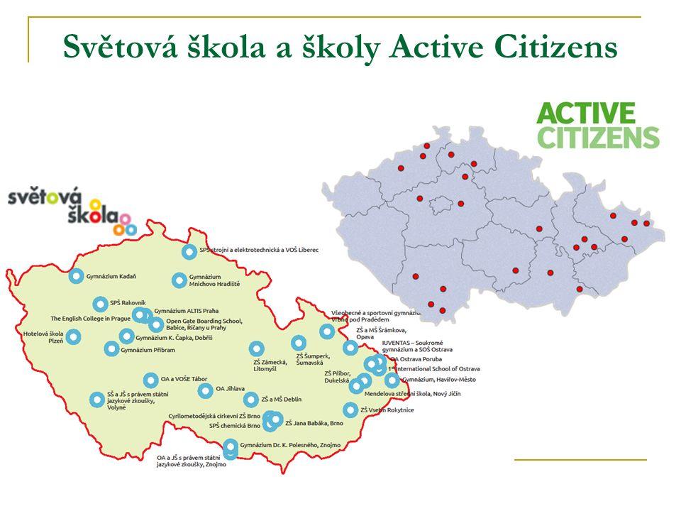 Světová škola a školy Active Citizens