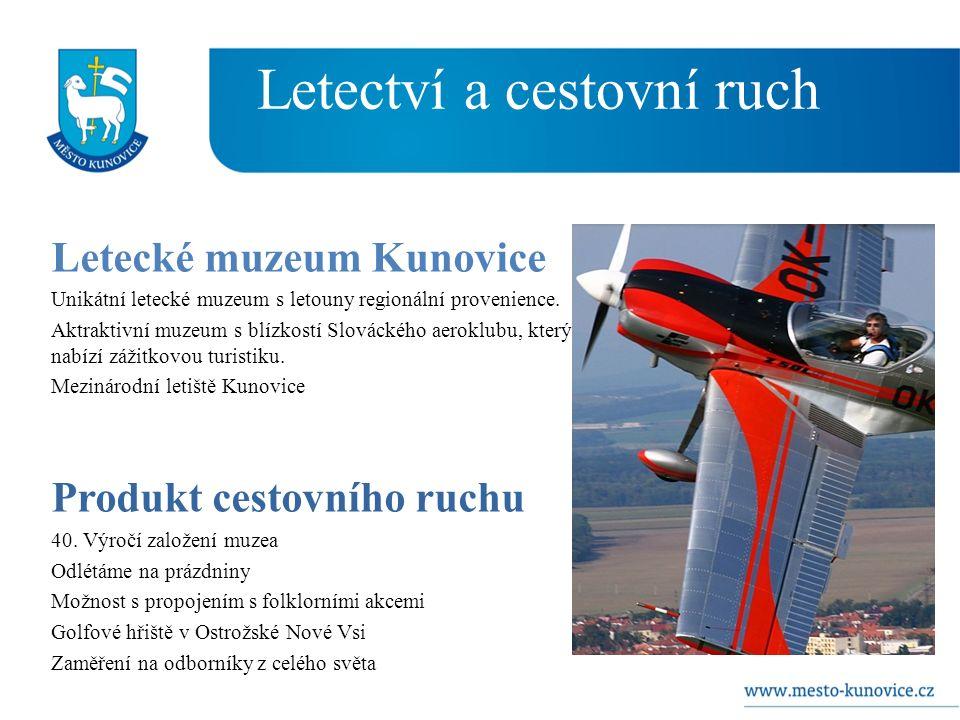 Letectví a cestovní ruch Letecké muzeum Kunovice Unikátní letecké muzeum s letouny regionální provenience.
