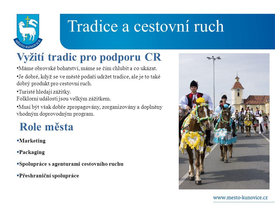 Tradice a cestovní ruch Vyžití tradic pro podporu CR Máme obrovské bohatství, máme se čím chlubit a co ukázat.