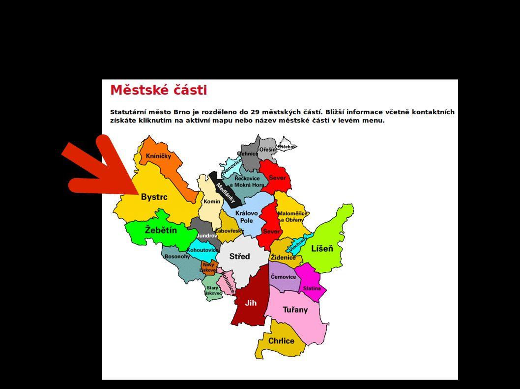 Brno = 29 městských částí = obyvatel