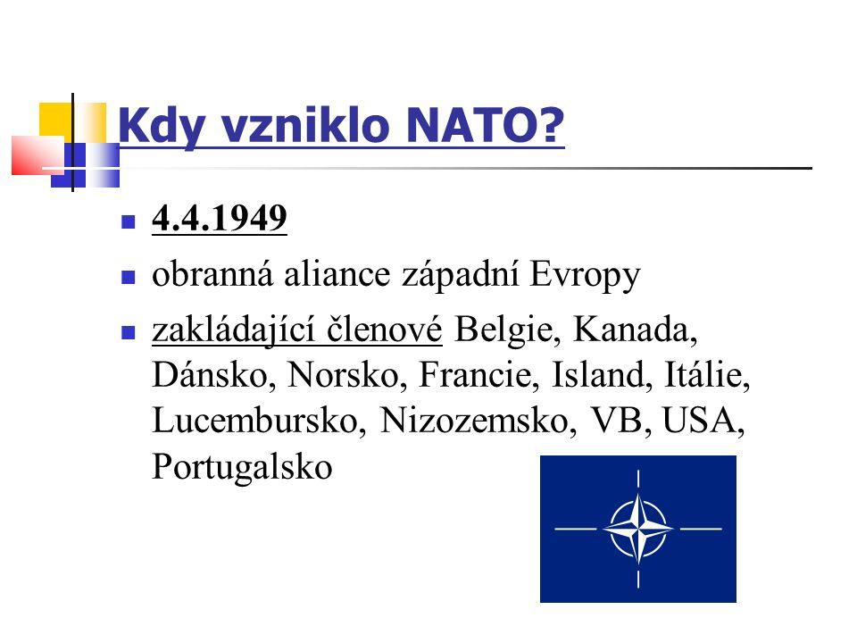Kdy vzniklo NATO.