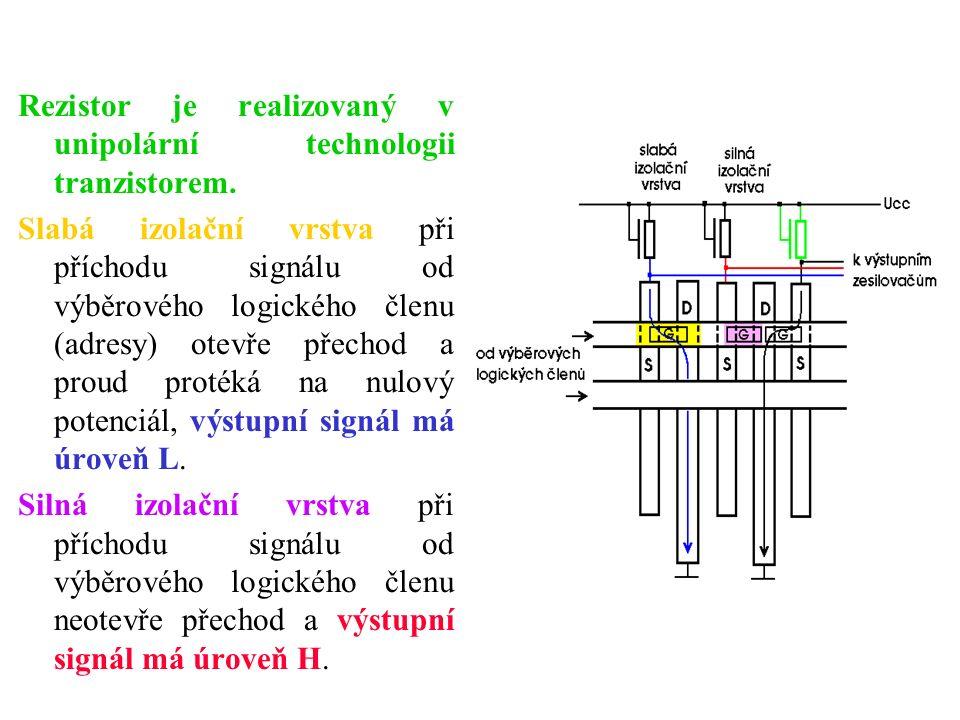Rezistor je realizovaný v unipolární technologii tranzistorem.