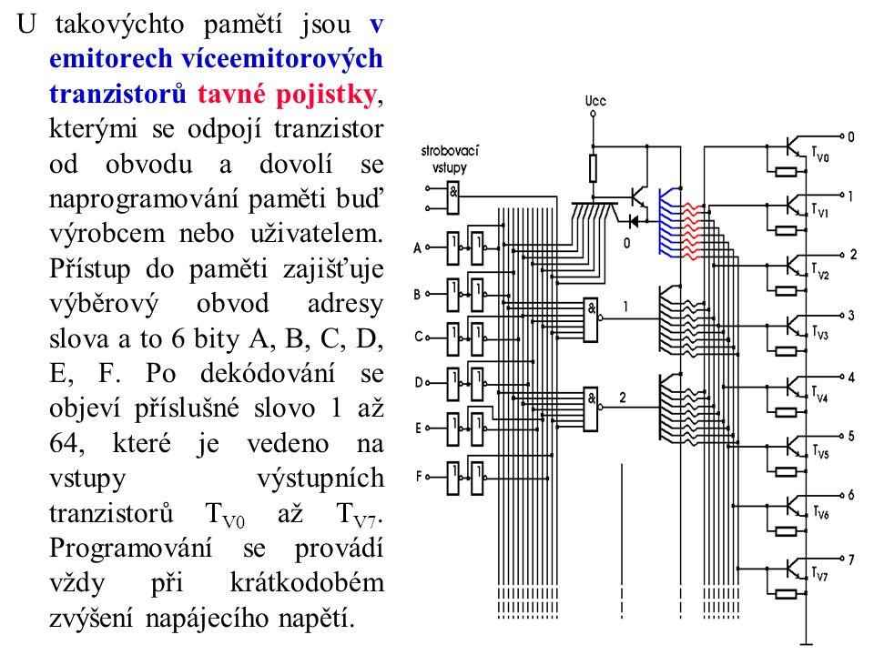 U takovýchto pamětí jsou v emitorech víceemitorových tranzistorů tavné pojistky, kterými se odpojí tranzistor od obvodu a dovolí se naprogramování paměti buď výrobcem nebo uživatelem.