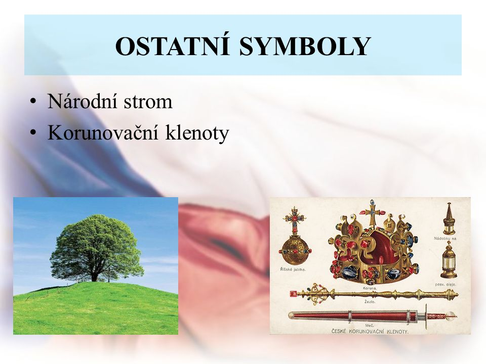 OSTATNÍ SYMBOLY Národní strom Korunovační klenoty