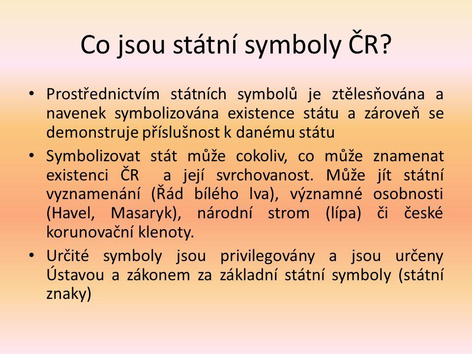 Co jsou státní symboly ČR.