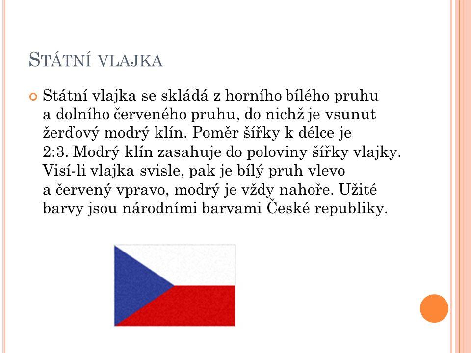P REZIDENTSKÁ STANDARTA Vlajka prezidenta republiky je čtvercového tvaru.