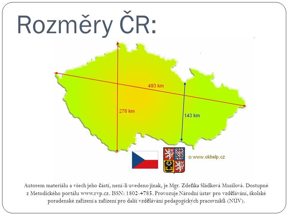 Rozměry ČR: Autorem materiálu a všech jeho č ástí, není-li uvedeno jinak, je Mgr.