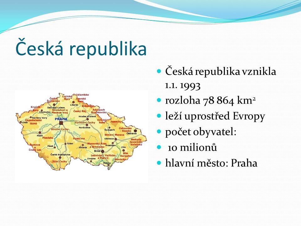 Česká republika Česká republika vznikla 1.1.
