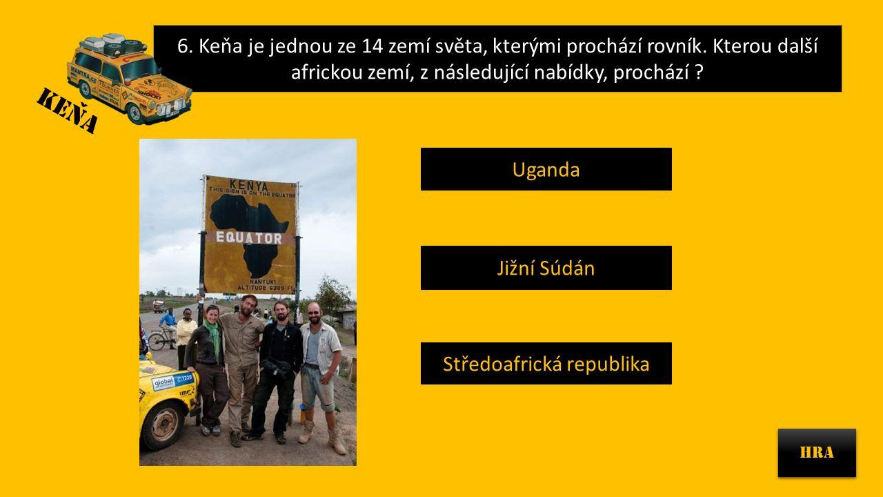 6.Keňa je jednou ze 14 zemí světa, kterými prochází rovník.
