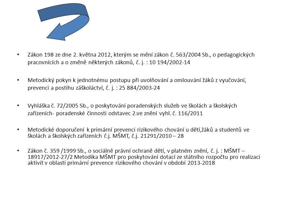 Zákon 198 ze dne 2. května 2012, kterým se mění zákon č.