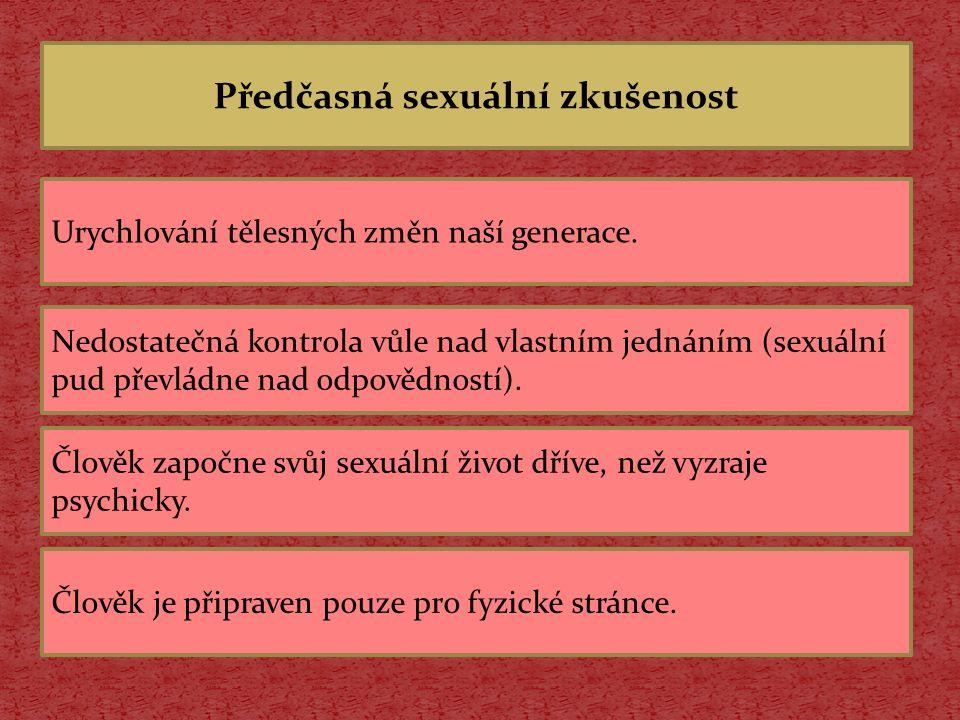 Jaká rizika může přinést předčasná sexuální zkušenost.