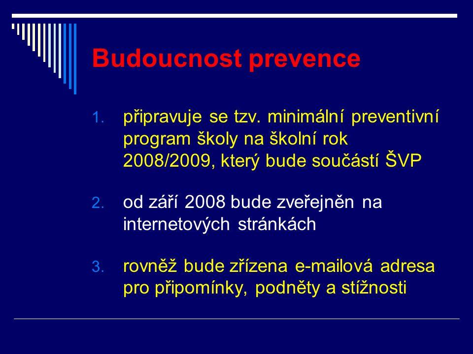 Budoucnost prevence 1.připravuje se tzv.