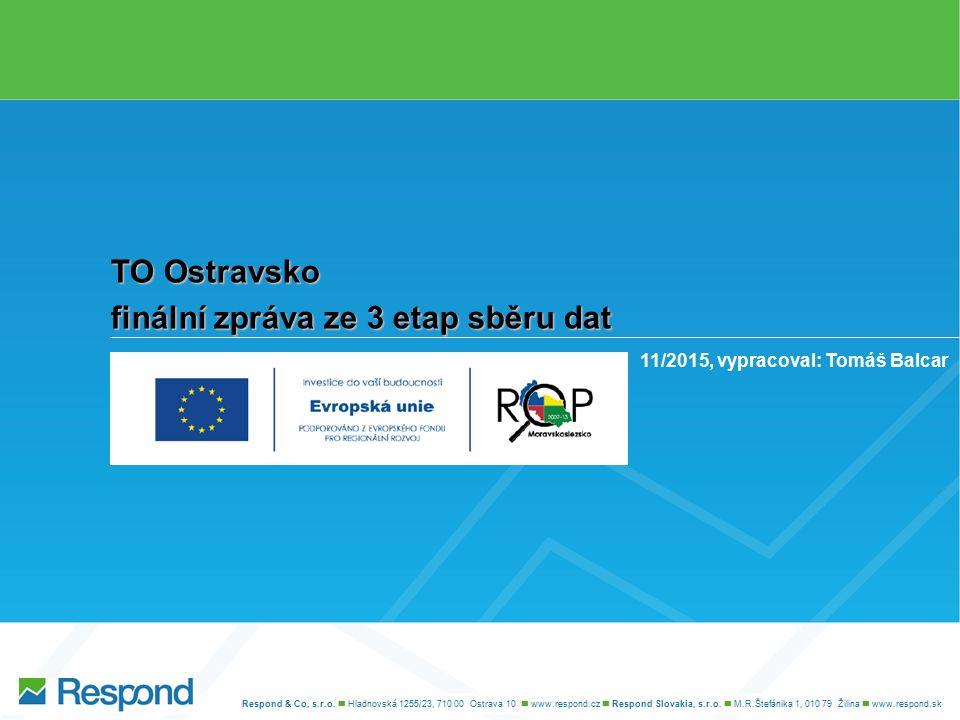 Komentáře agentury Respond Aktivity vhodné pro region Respondenti na základě svých zkušeností s regionem TO Ostravsko dokázali definovat, k jakým aktivitám je tento region vhodný.