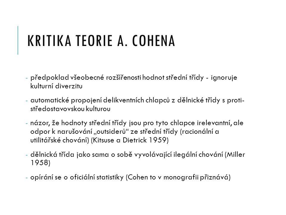 KRITIKA TEORIE A.