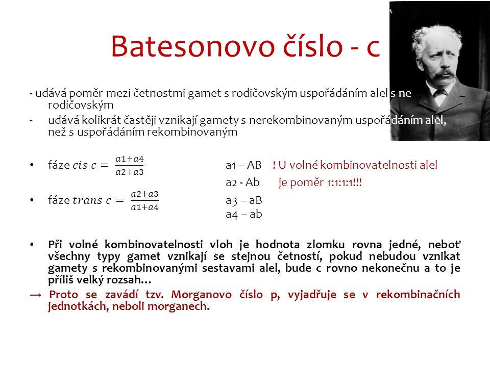 Batesonovo číslo - c