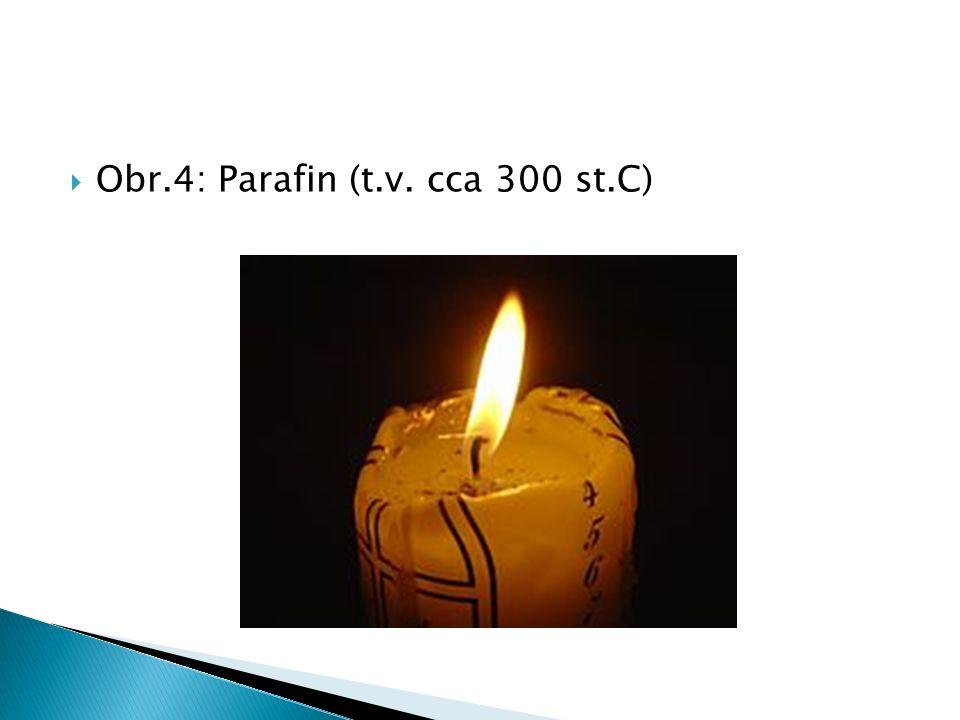  Obr.4: Parafin (t.v. cca 300 st.C)