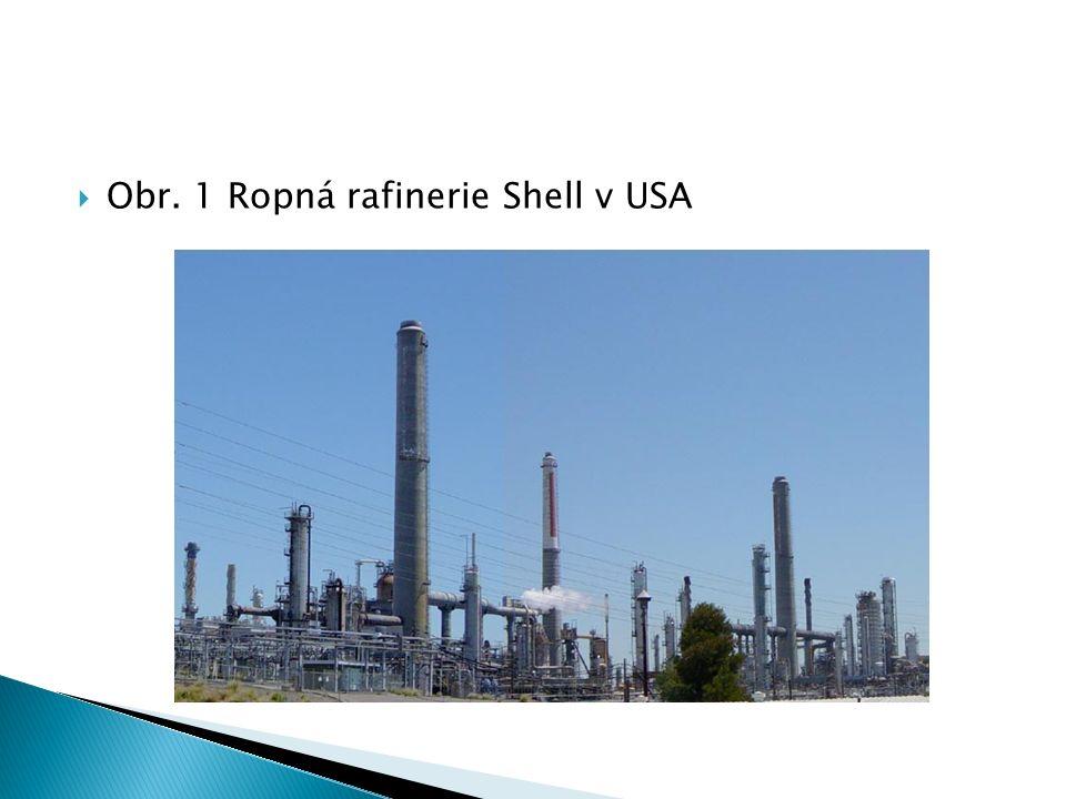  Obr. 1 Ropná rafinerie Shell v USA