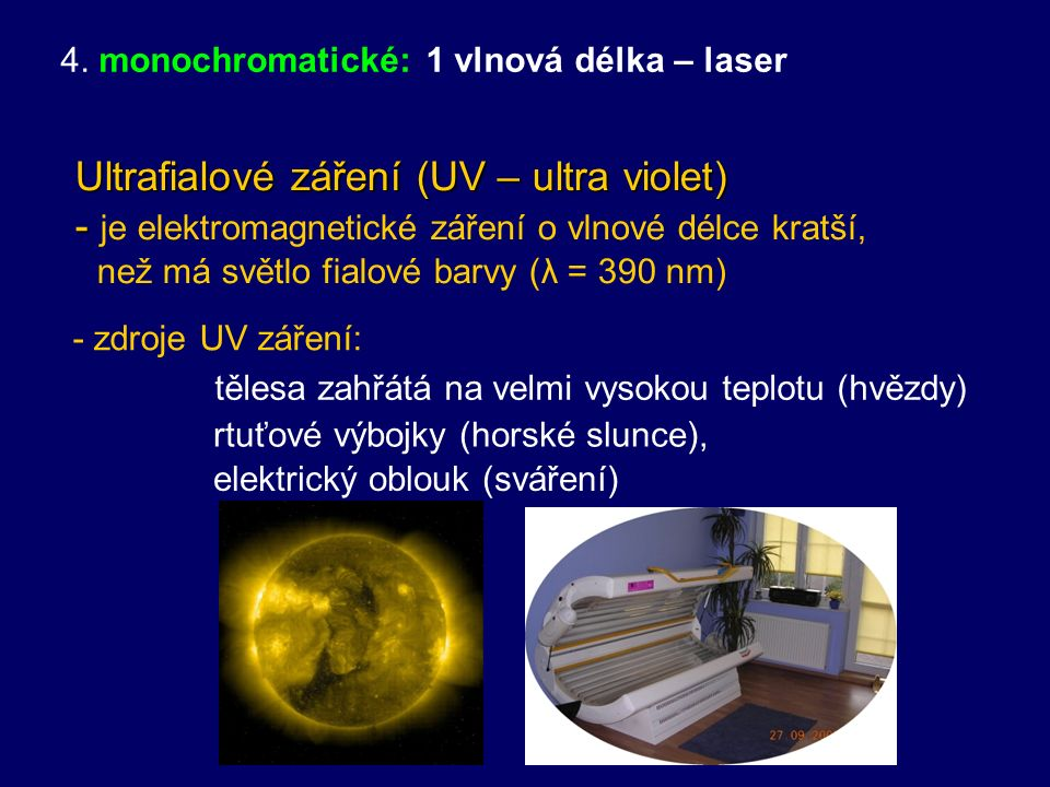 Obr.: Relativní světelná účinnost monochromatického záření (citlivost lidského oka)