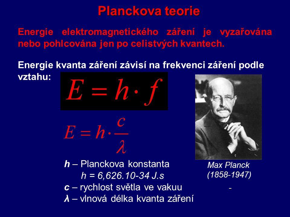 Stefanův-Boltzmannův zákon Energie vyzařovaná absolutně černým tělesem roste úměrně čtvrté mocnině termodynamické teploty.