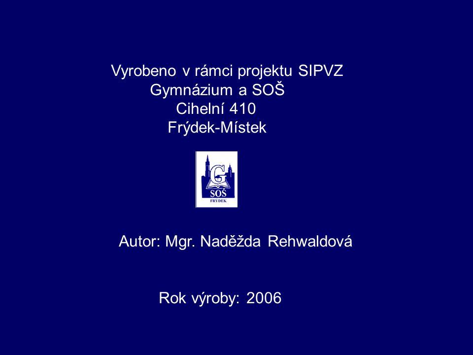 Literatura a použité materiály: O. Lepil – Z. Kupka: Fyzika pro gymnázia – Optika V.