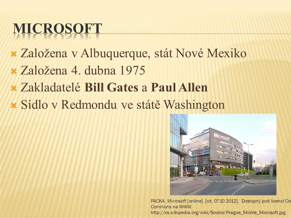  PACKA.Microsoft [online]. [cit. 07.10.2012].