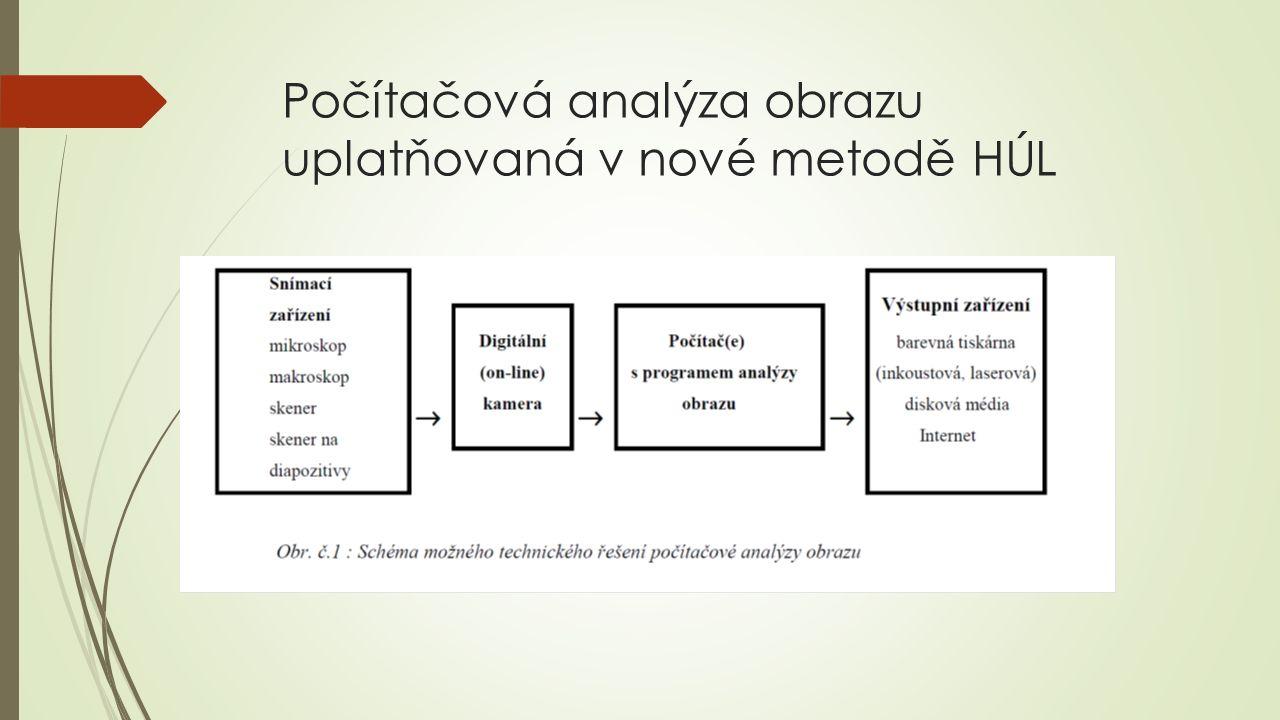 Počítačová analýza obrazu uplatňovaná v nové metodě HÚL