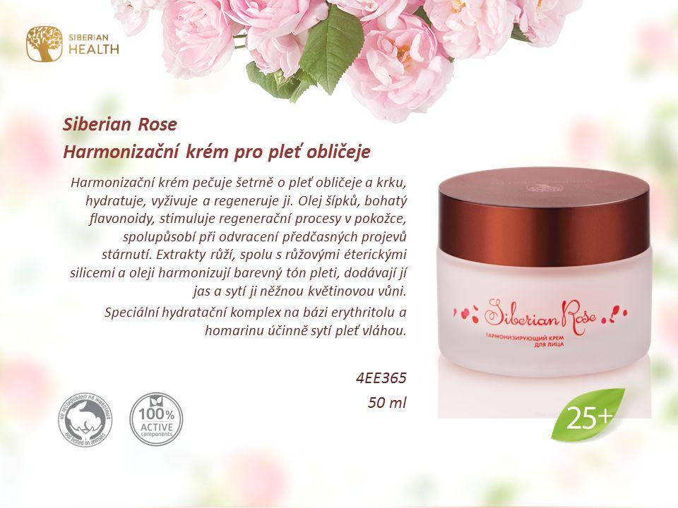 Siberian Rose Harmonizační krém pro pleť obličeje Harmonizační krém pečuje šetrně o pleť obličeje a krku, hydratuje, vyživuje a regeneruje ji.