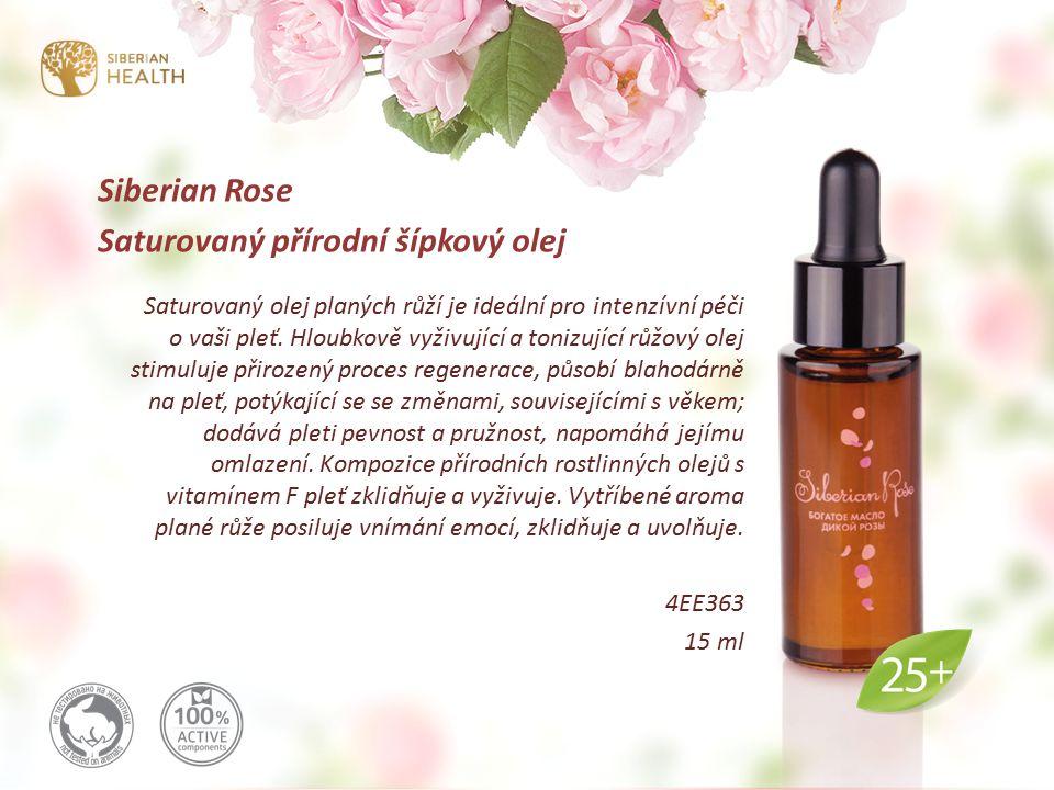 Siberian Rose Saturovaný přírodní šípkový olej Saturovaný olej planých růží je ideální pro intenzívní péči o vaši pleť.
