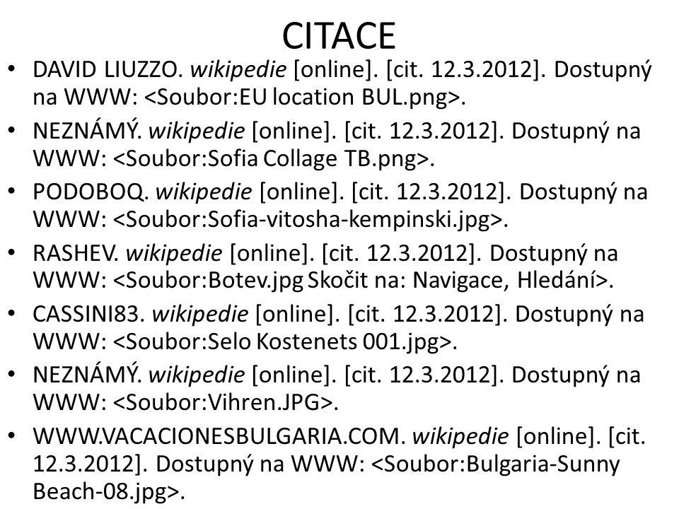 CITACE DAVID LIUZZO. wikipedie [online]. [cit. 12.3.2012].