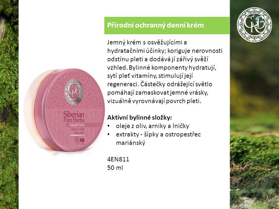 Přírodní ochranný denní krém Jemný krém s osvěžujícími a hydratačními účinky; koriguje nerovnosti odstínu pleti a dodává jí zářivý svěží vzhled.