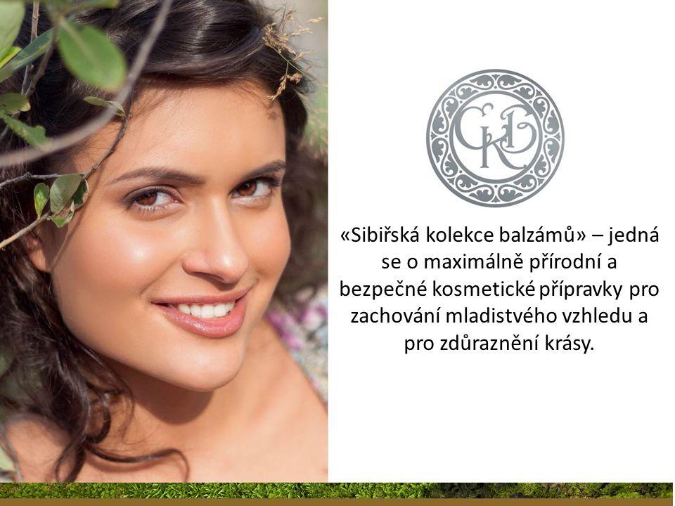 «Sibiřská kolekce balzámů» – jedná se o maximálně přírodní a bezpečné kosmetické přípravky pro zachování mladistvého vzhledu a pro zdůraznění krásy.