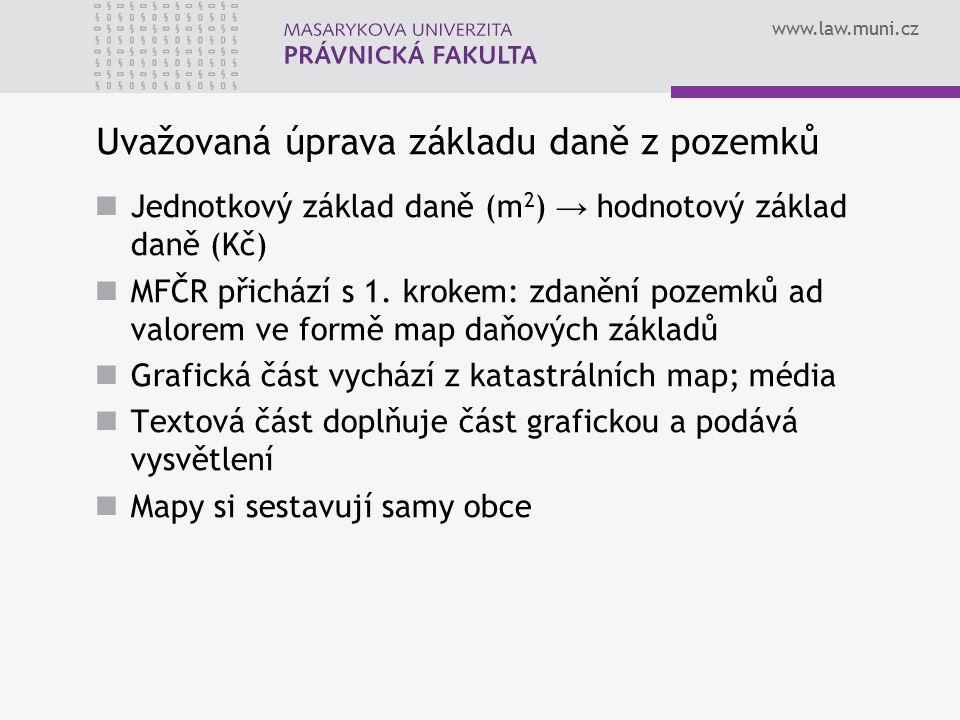 """www.law.muni.cz Pilotní projekt Zdroj: Alena Holmes: Daň z nemovitostí – Hledáme přijatelná řešení (Seminář """"Budoucnost daně z nemovitostí: zvýšit nebo zrušit? , CEVRO, 18.2.2010) 26"""