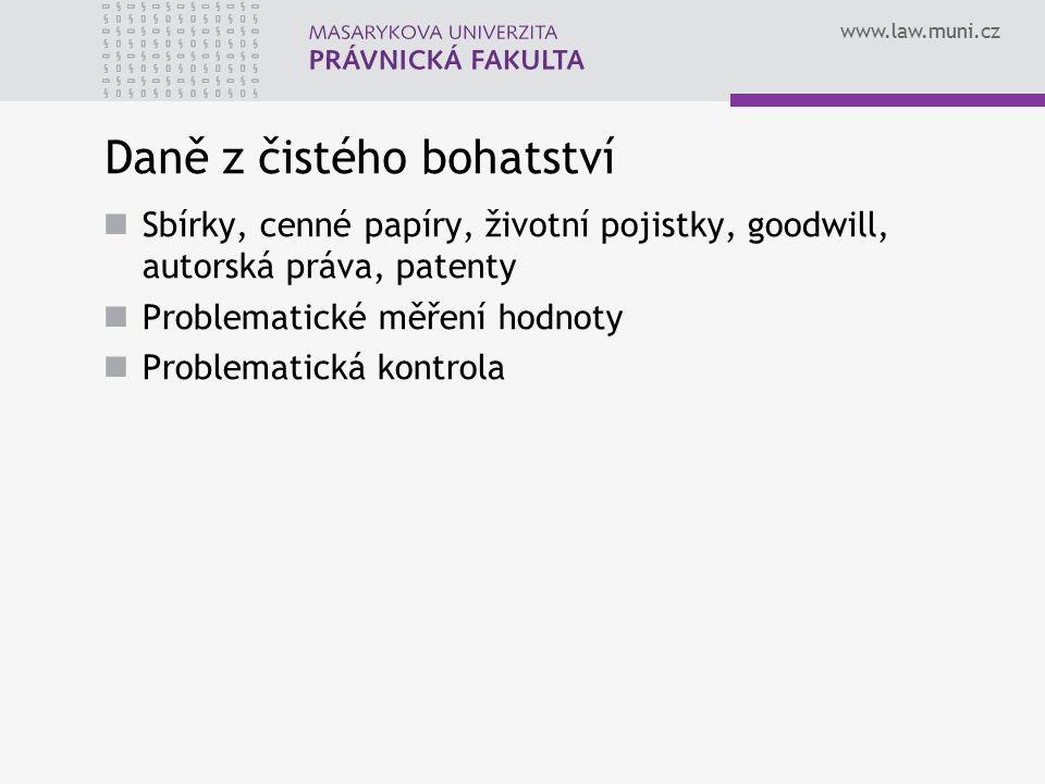 www.law.muni.cz Majetkové daně Daň z nabytí nemovitých věcí Daň z nemovitých věcí Daň silniční