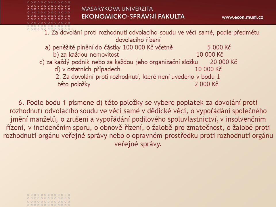 www.econ.muni.cz Položka 23 1.