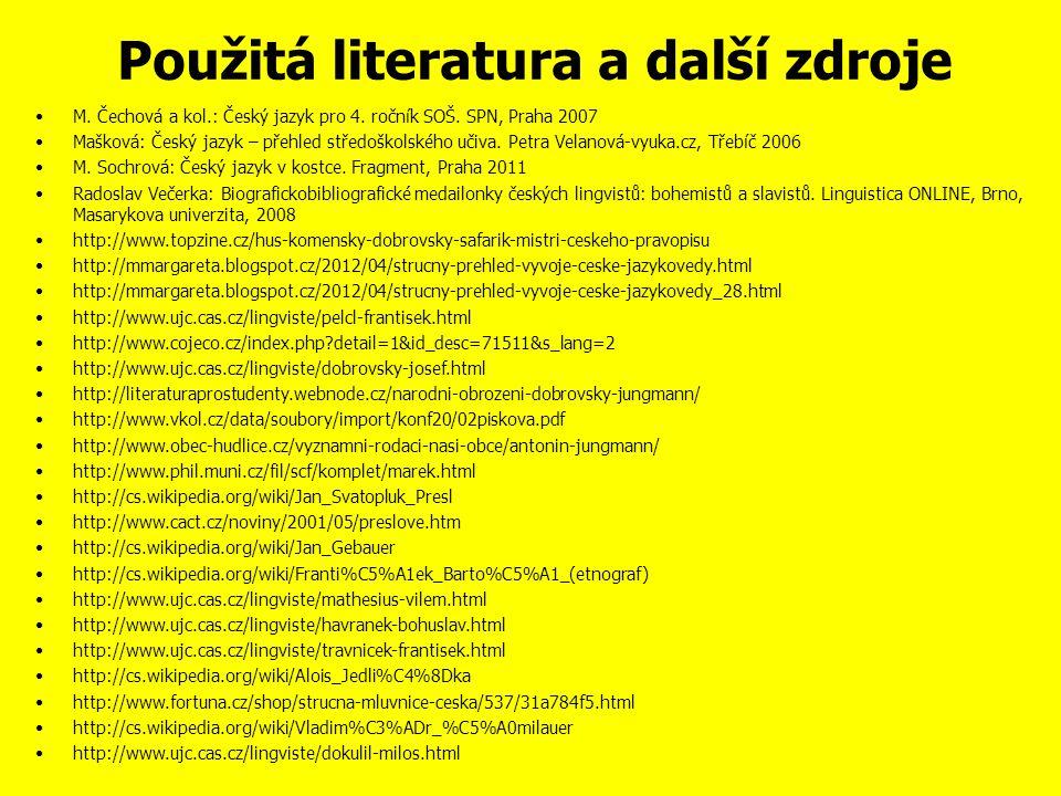 Otázky a úkoly 1. Kdo vydal Balbínovu obranu jazyka českého.