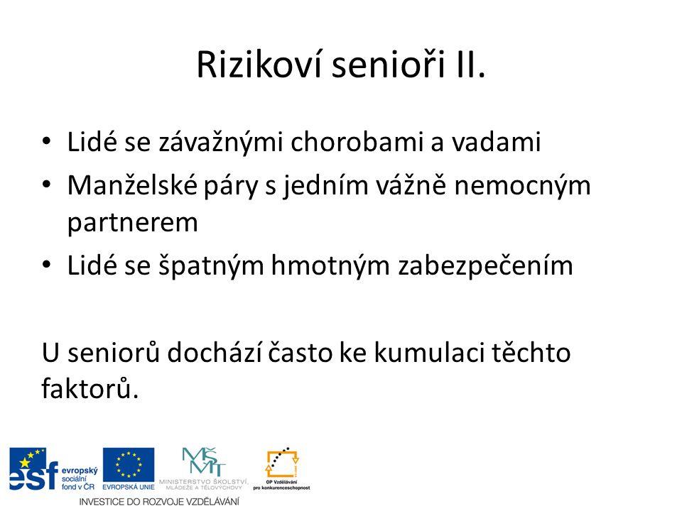 Rizikoví senioři II.