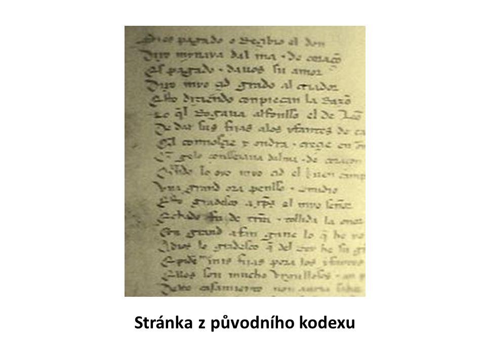 Stránka z původního kodexu