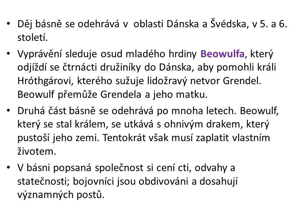 První strana rukopisu BEOWULF