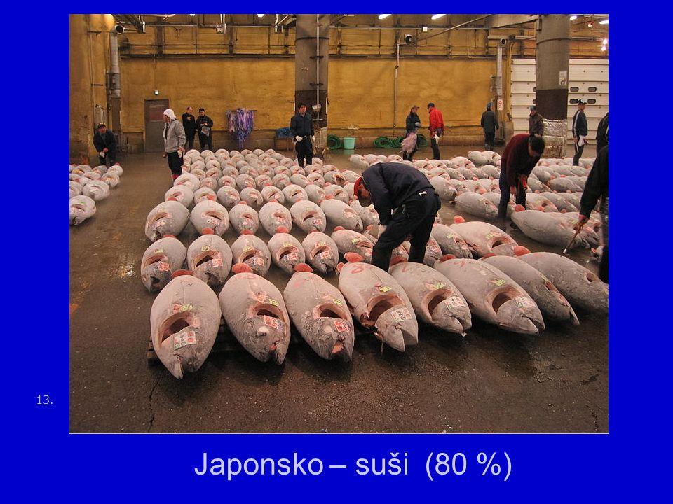 13. Japonsko – suši (80 %)