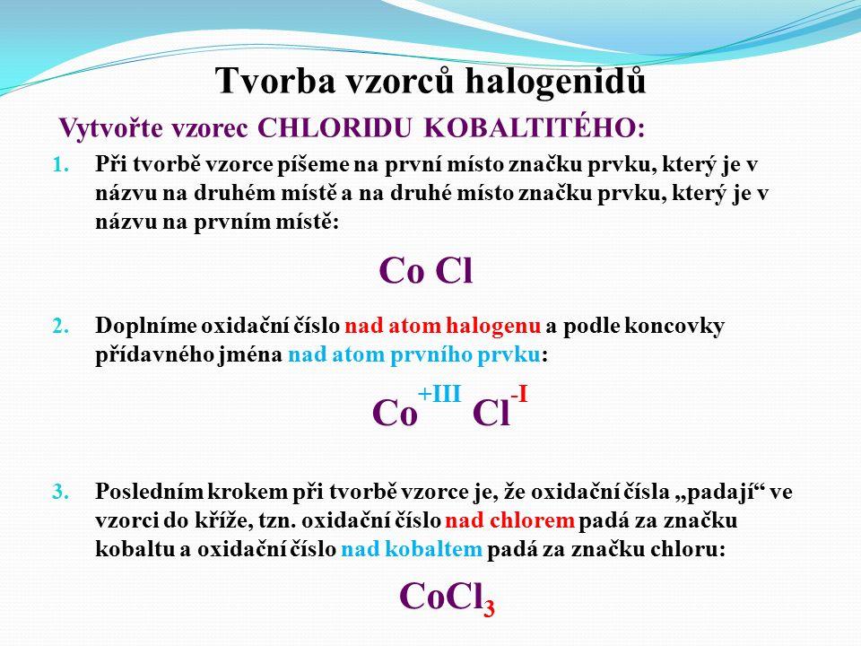  Chemicky se halogenidy odvozují jakožto soli tzv.