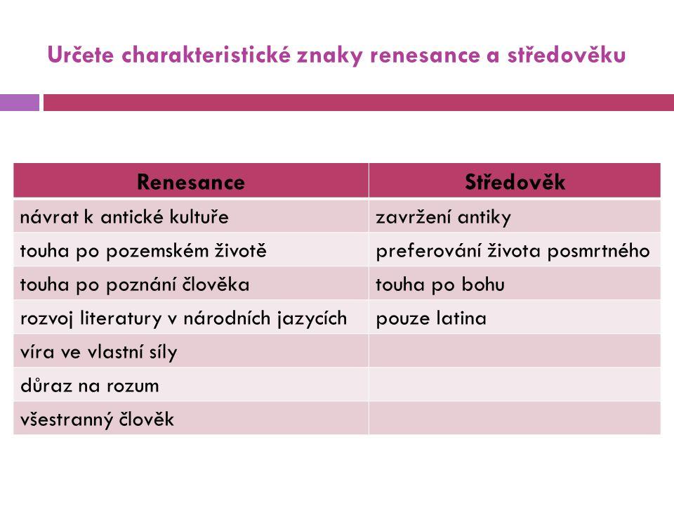 Úkoly  Podle charakteristiky určete literární typy.