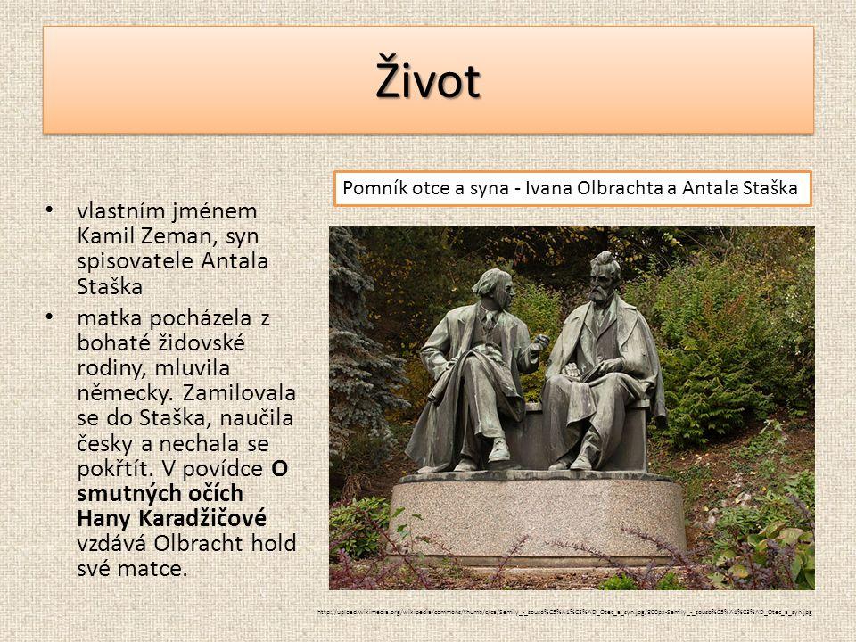 ŽivotŽivot vlastním jménem Kamil Zeman, syn spisovatele Antala Staška matka pocházela z bohaté židovské rodiny, mluvila německy. Zamilovala se do Staš
