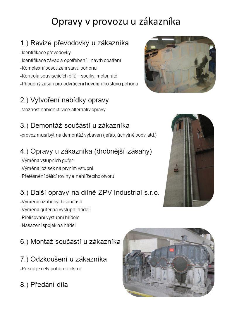 Opravy v dílně ZPV Industrial s.r.o.