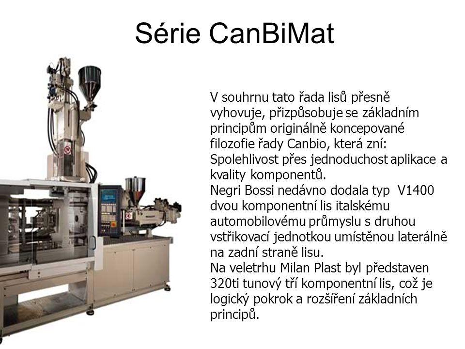 Série CanBiMat V souhrnu tato řada lisů přesně vyhovuje, přizpůsobuje se základním principům originálně koncepované filozofie řady Canbio, která zní: Spolehlivost přes jednoduchost aplikace a kvality komponentů.