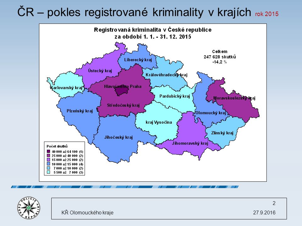 Celková trestná činnost 27.9.2016KŘ Olomouckého kraje 3
