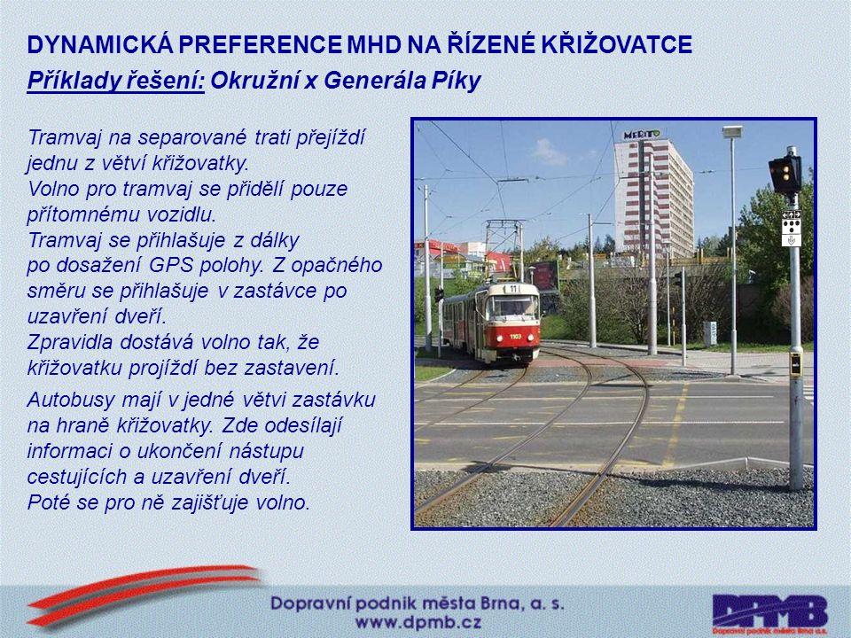 Řadiče SSZ komunikující s vozidly MHD (říjen 2007): TELEMATICKÝ SYSTÉM NA ŘÍZENÉ KŘIŽOVATCE Vídeňská x VojtovaRybnická x Kamenice Okružní x Gen.