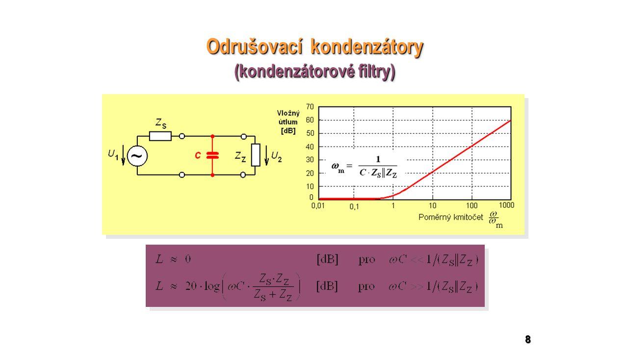 8 Odrušovací kondenzátory (kondenzátorové filtry) Odrušovací kondenzátory (kondenzátorové filtry)